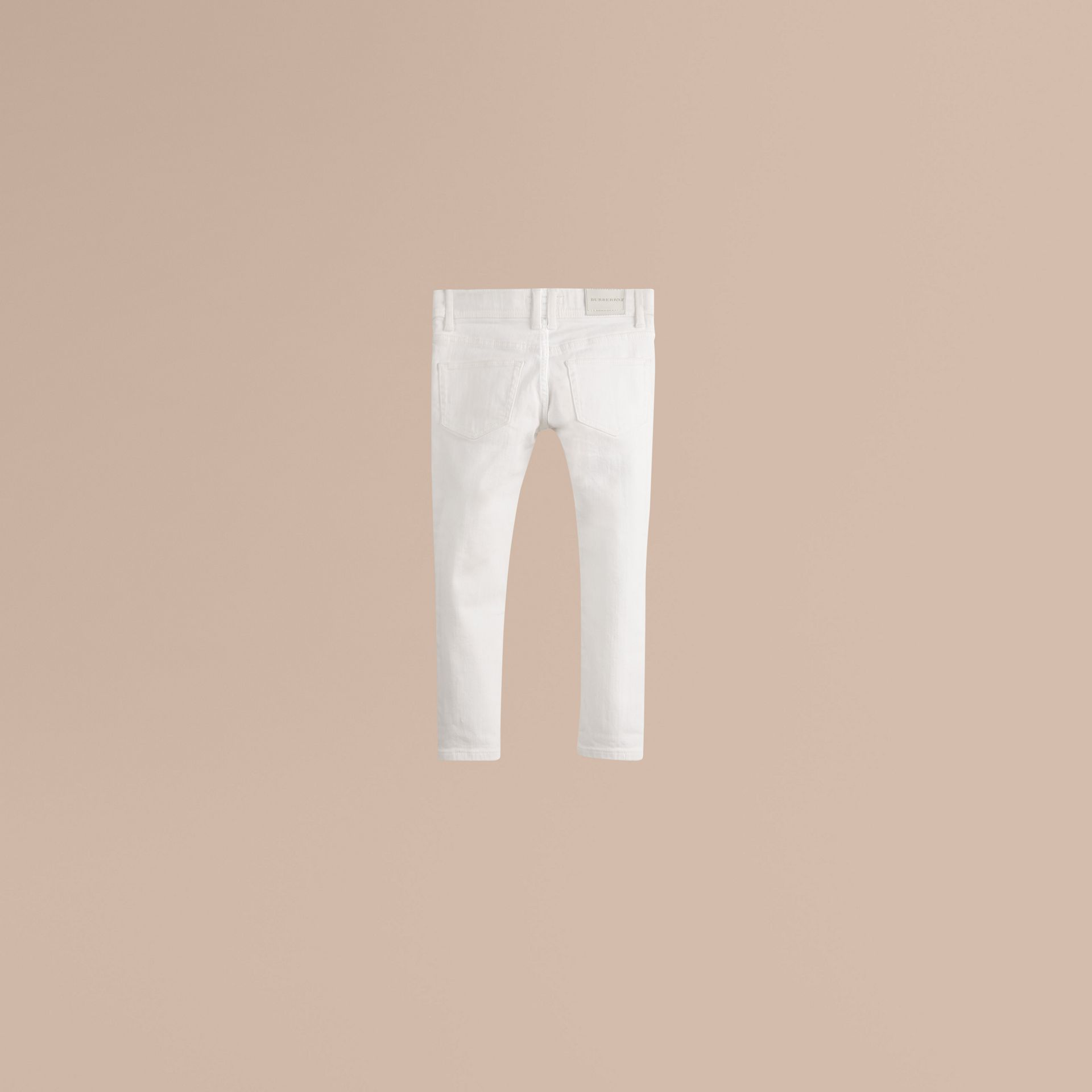 White Skinny Fit Cotton Blend Jeans - gallery image 3