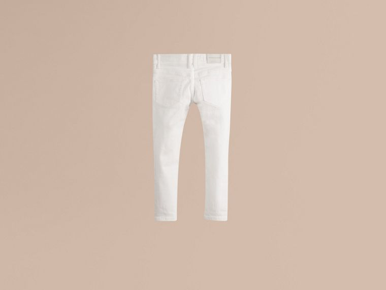 White Skinny Fit Cotton Blend Jeans - cell image 2