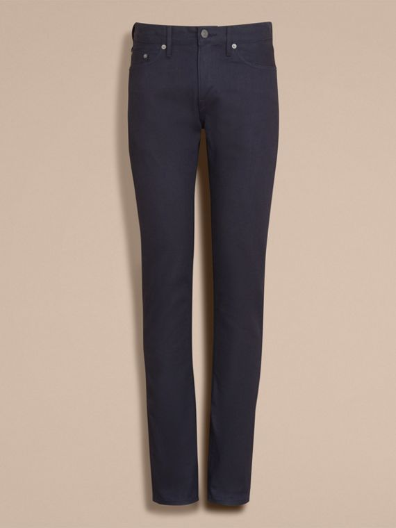 Slim Fit Saturated Selvedge Jeans - Men | Burberry - cell image 3