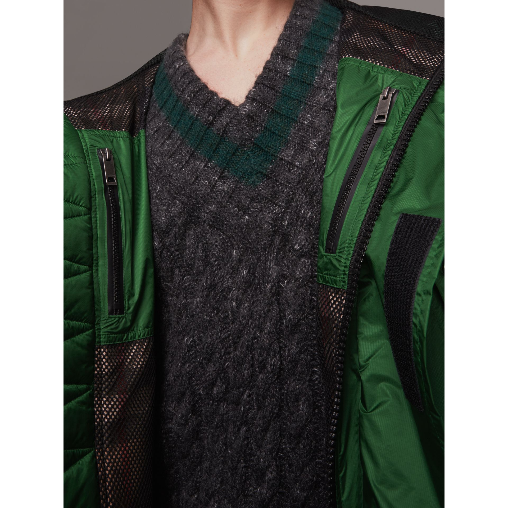 Lightweight Hooded Jacket in Pigment Green - Men | Burberry - gallery image 2