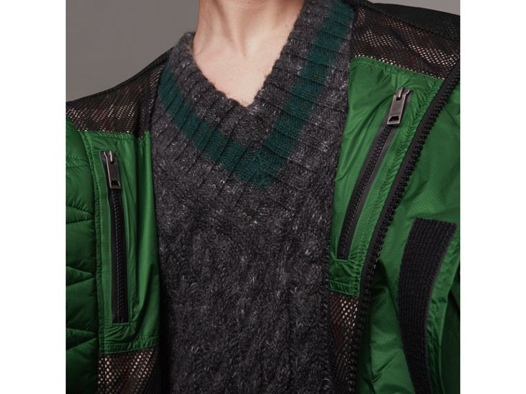 Lightweight Hooded Jacket in Pigment Green - Men | Burberry - cell image 1