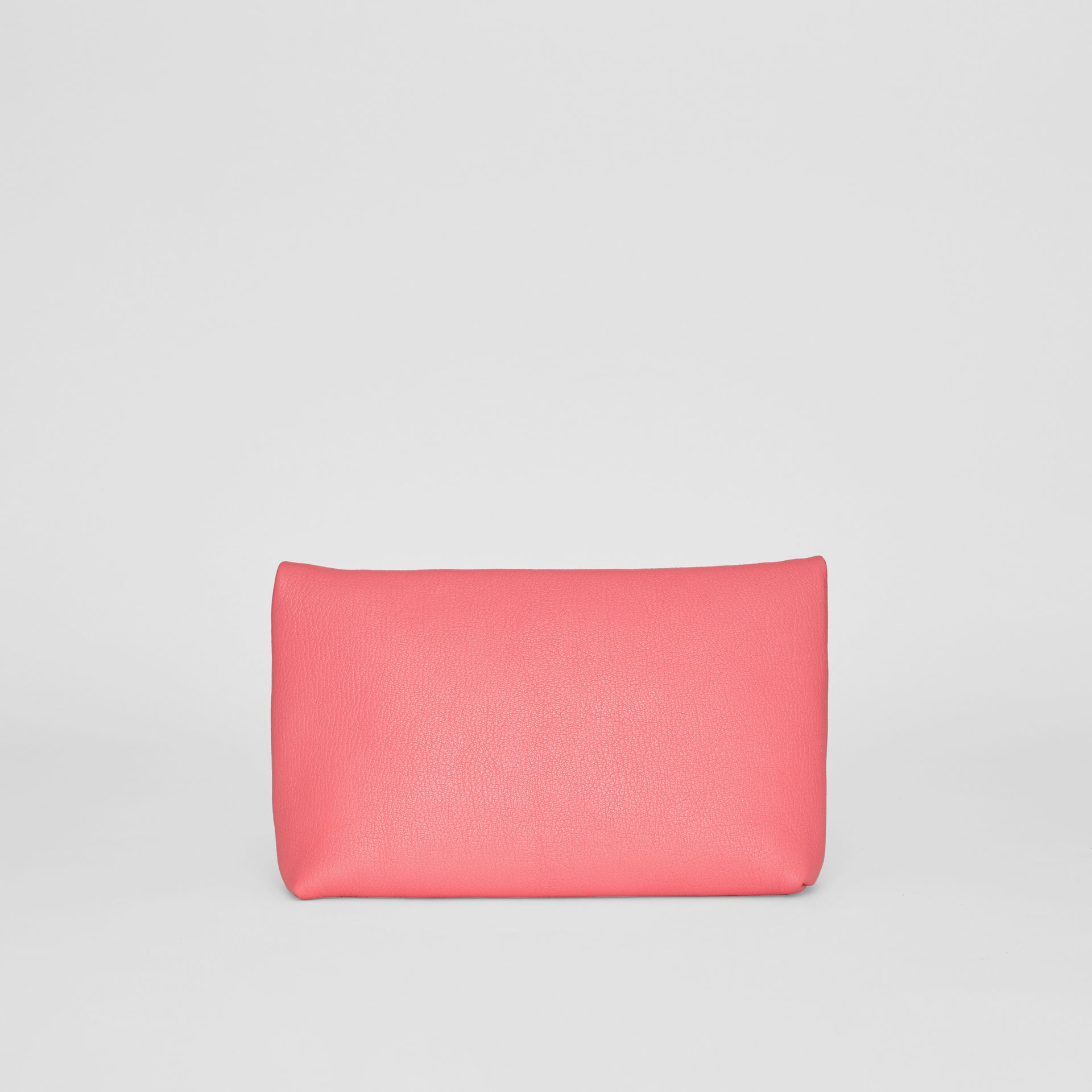 The Medium Pin Clutch in Leather in Bright Coral Pink - Women | Burberry - gallery image 7