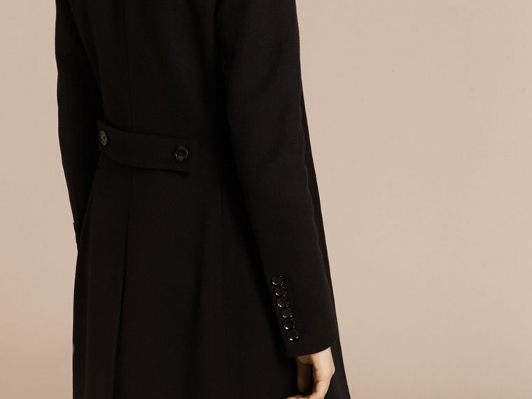 Wool Cashmere Tailored Coat in Black - cell image 1
