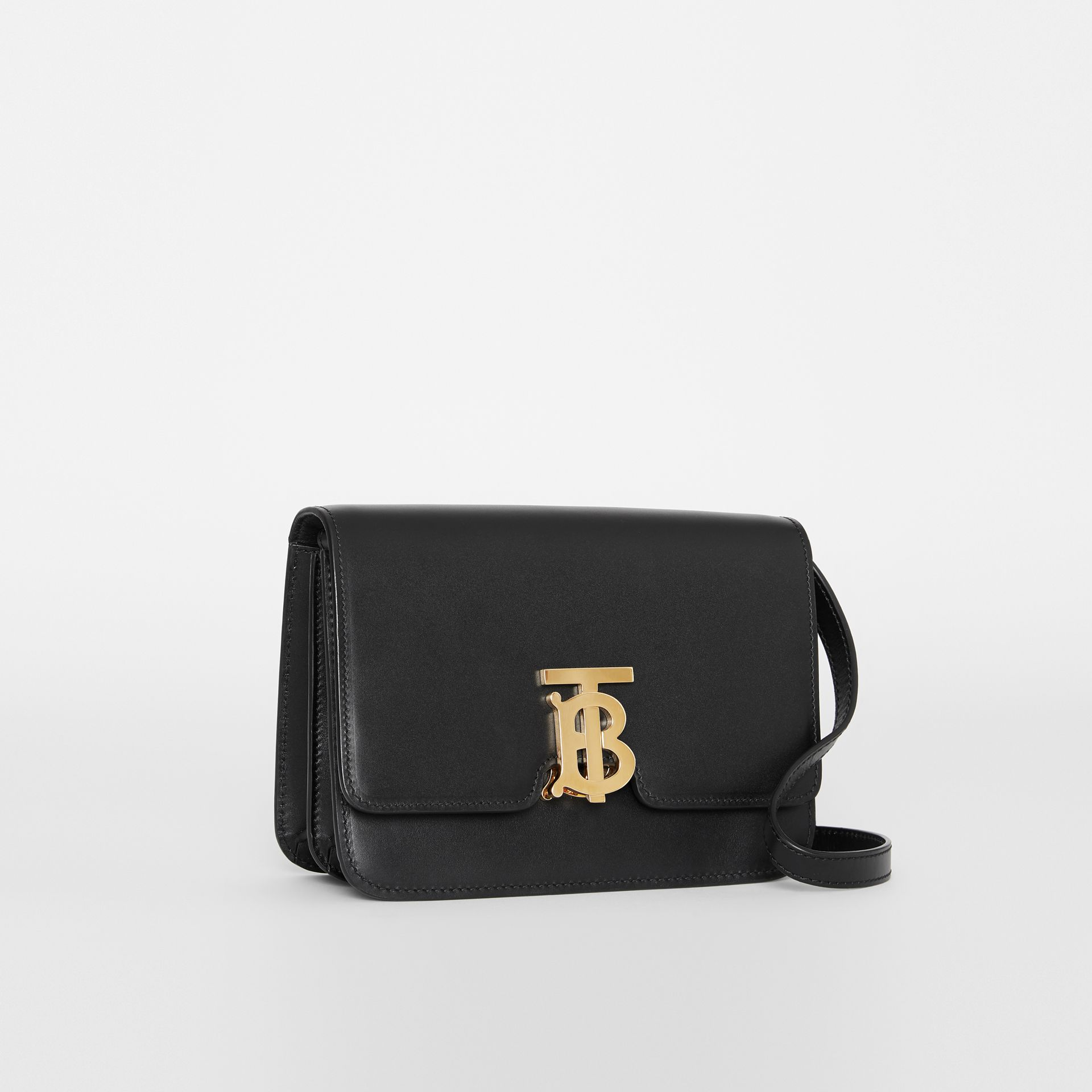 Small Leather TB Bag in Black - Women | Burberry - gallery image 8