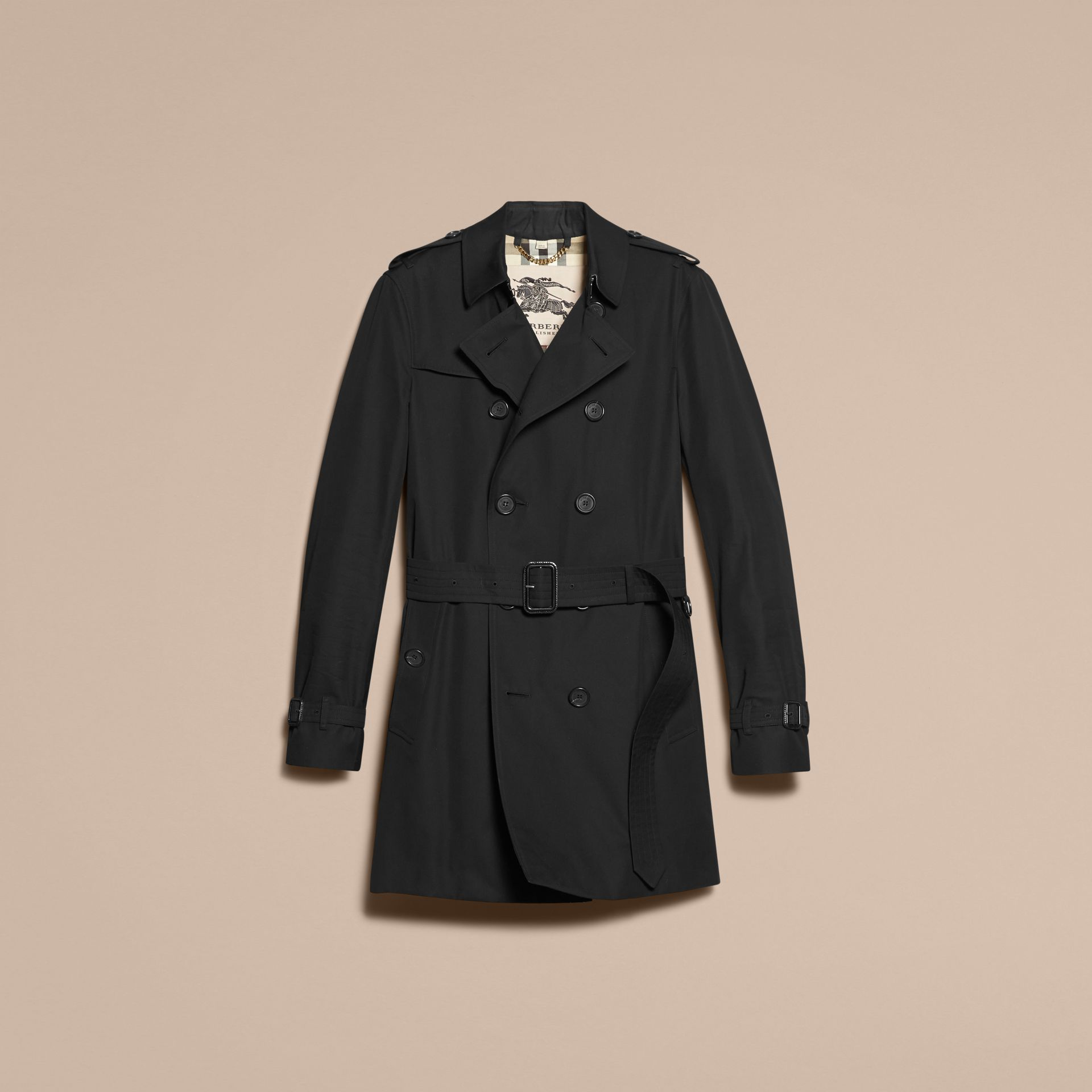 Noir Trench-coat Heritage mi-long The Chelsea Noir - photo de la galerie 4