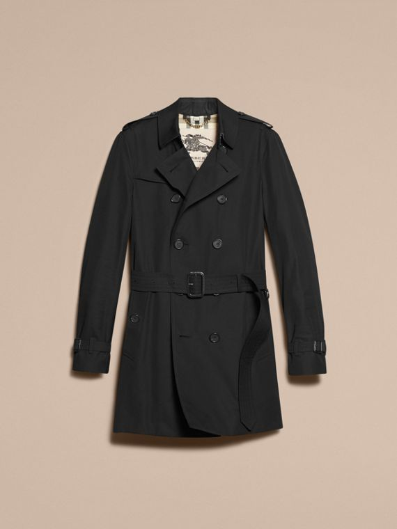 Noir Trench-coat Heritage mi-long The Chelsea Noir - cell image 3
