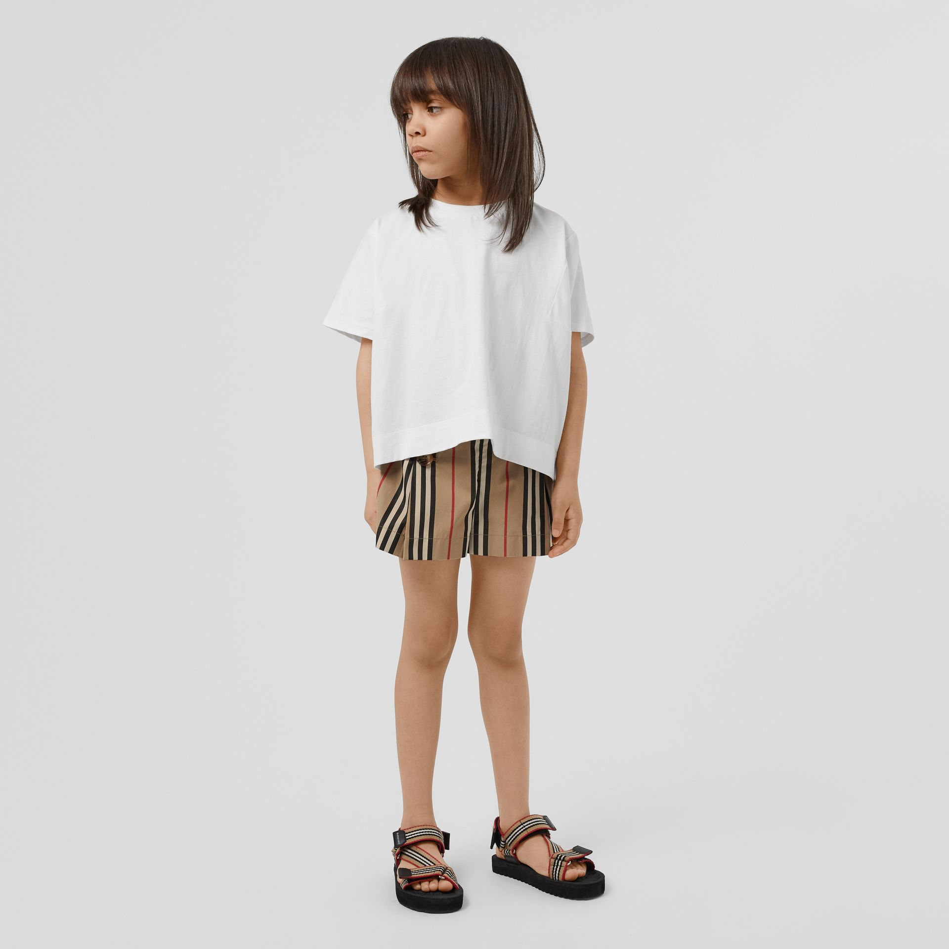 Icon Stripe Cotton Sailor Shorts in Archive Beige | Burberry United Kingdom - gallery image 2