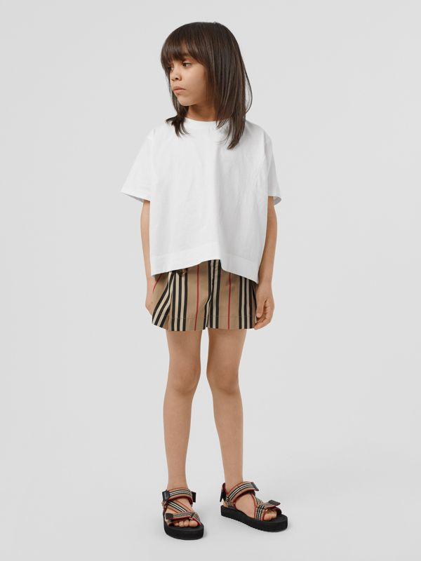 Icon Stripe Cotton Sailor Shorts in Archive Beige | Burberry United Kingdom - cell image 2