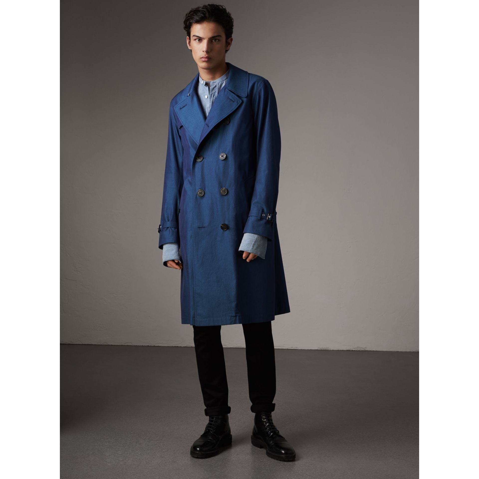 Tropical Gabardine Cotton Trench Coat - Men | Burberry - gallery image 6