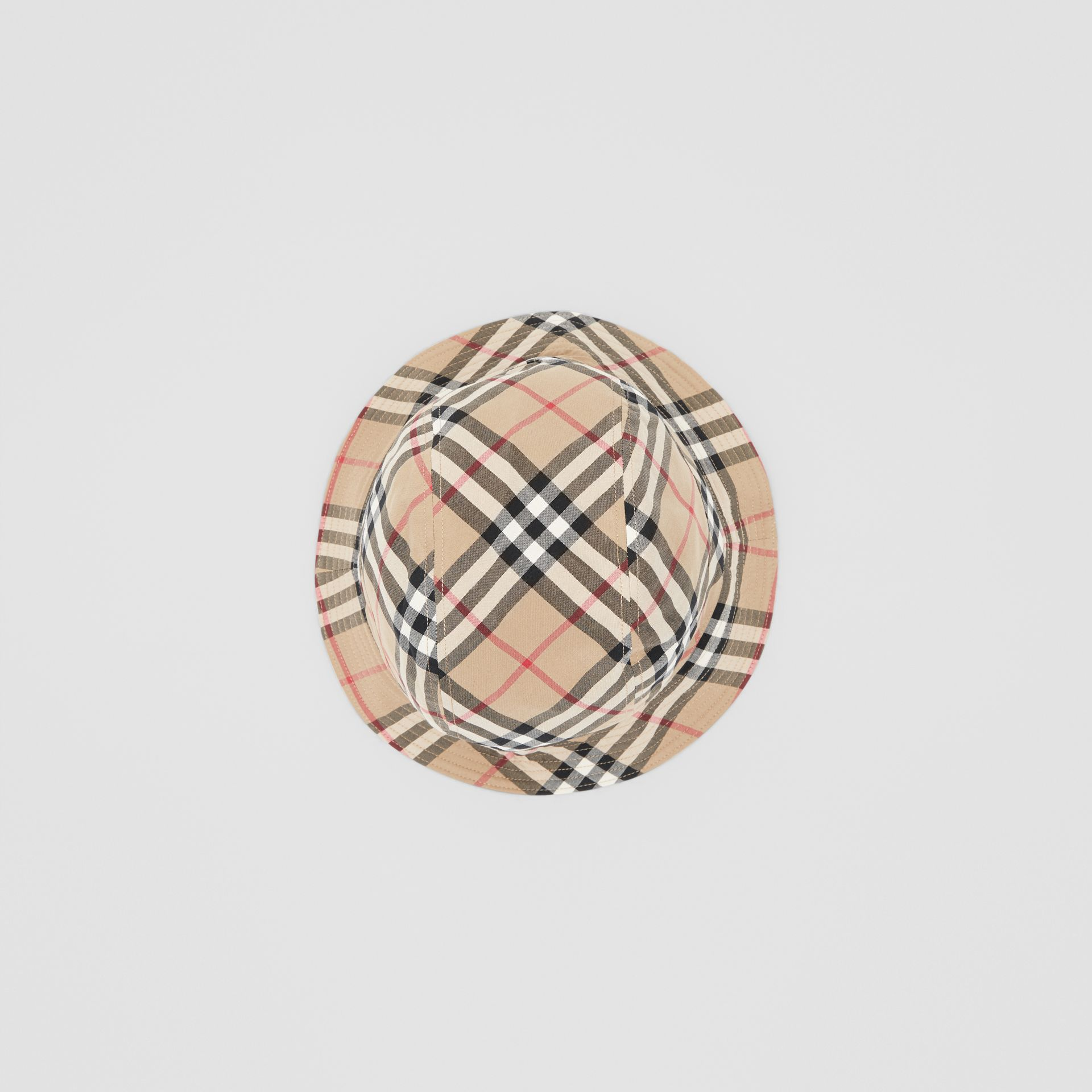 Reversible Vintage Check Bucket Hat in Archive Beige - Children | Burberry - gallery image 3