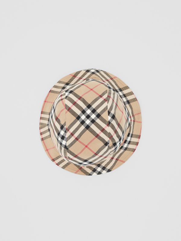 Reversible Vintage Check Bucket Hat in Archive Beige - Children | Burberry Australia - cell image 3