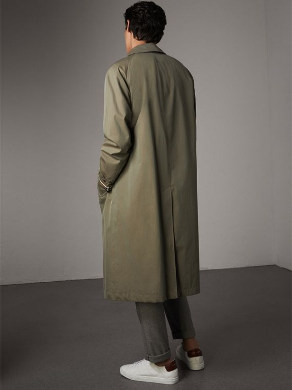 The Brighton – Longline Car Coat in Chalk Green - Men | Burberry - cell image 2