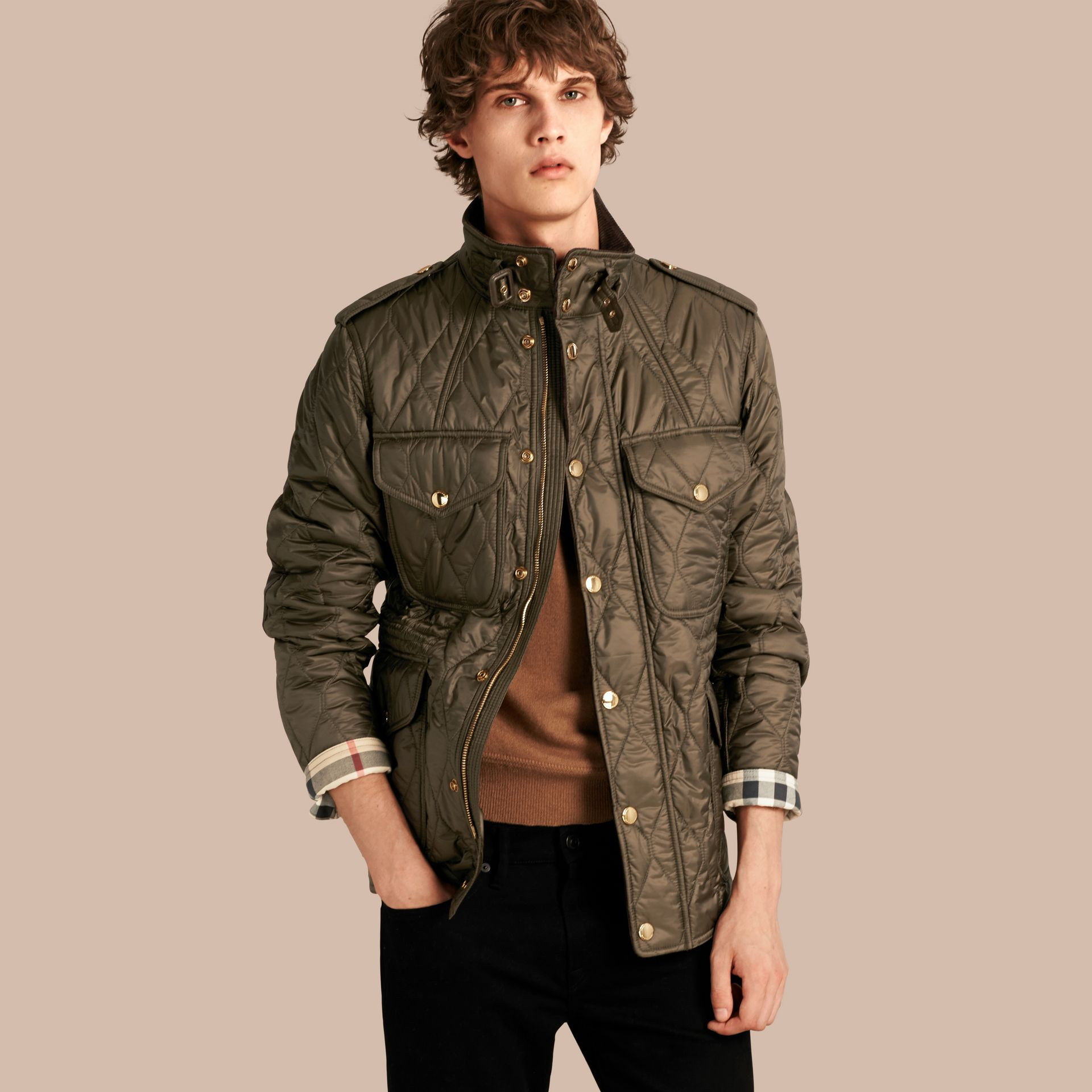 Oregano Diamond Quilted Field Jacket - gallery image 1