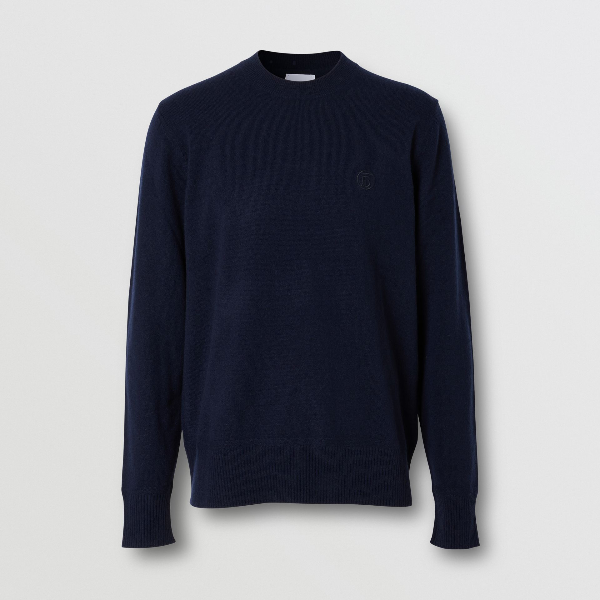 Monogram Motif Cashmere Sweater in Navy - Men | Burberry - gallery image 3