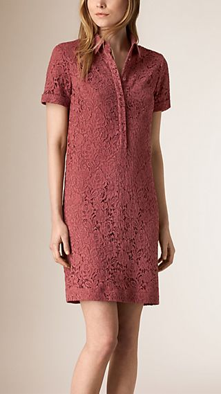 Floral Italian Lace Shirt Dress