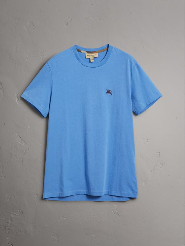 Cotton Jersey T-shirt in Light Azure - Men | Burberry - cell image 3