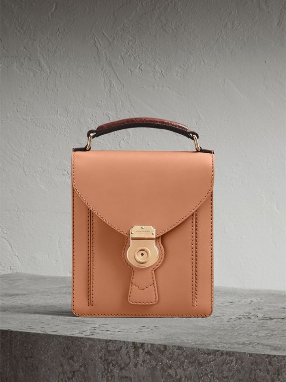 The Small DK88 Satchel with Alligator in Pale Clementine