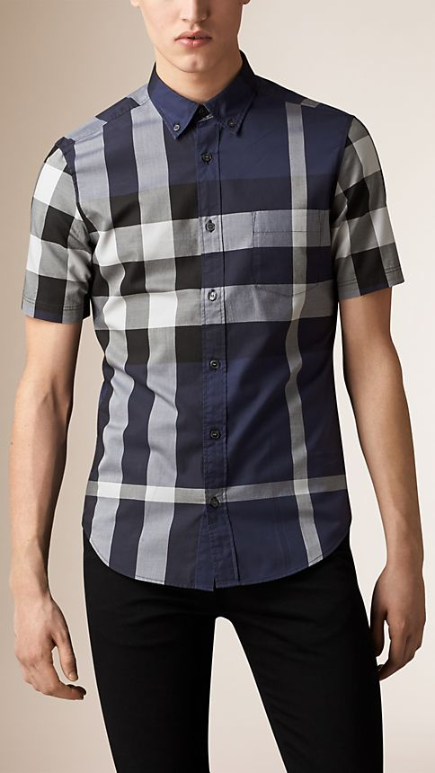 Ink Giant Exploded Check Cotton Shirt - Image 1