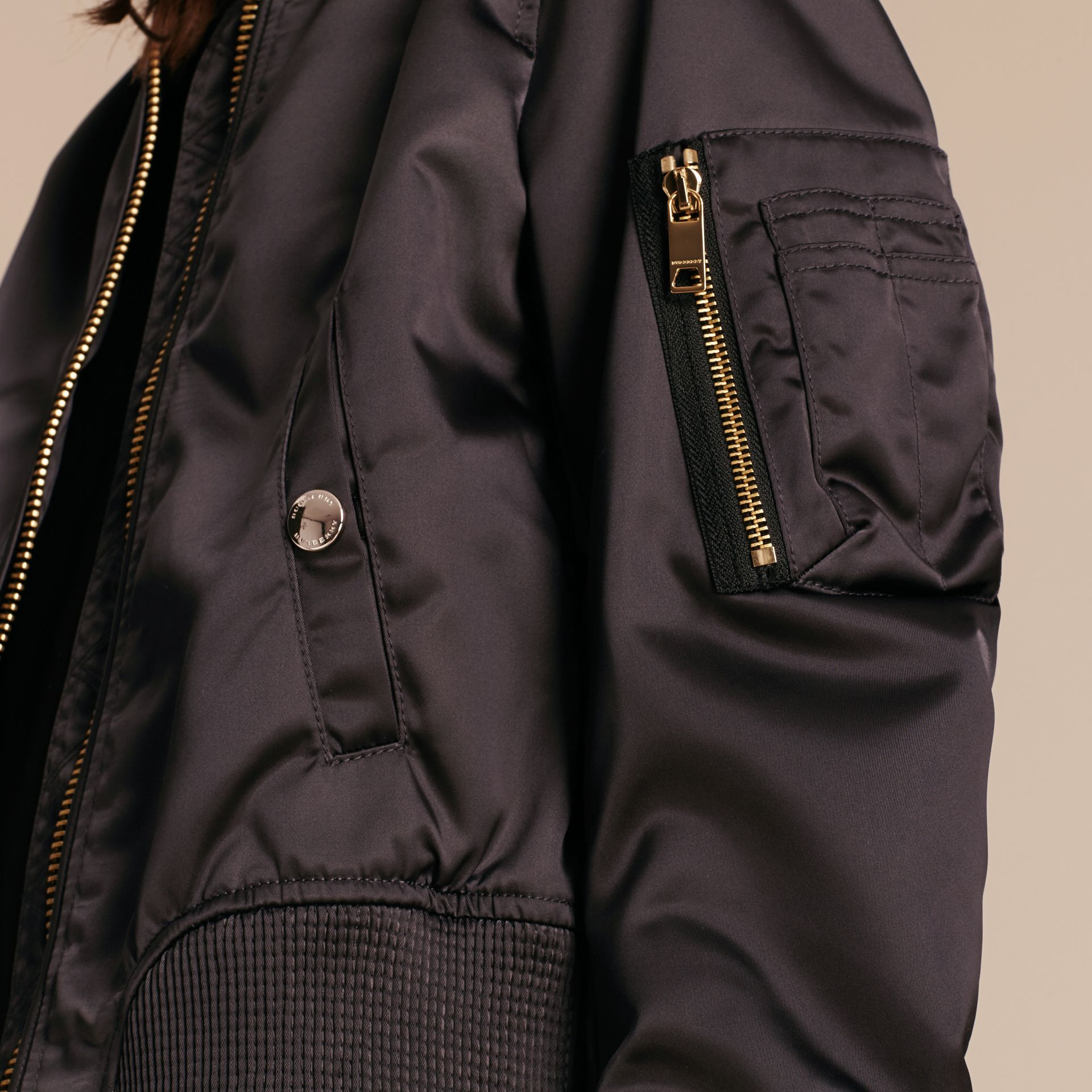 Graphite Cropped Technical Bomber Jacket - gallery image 5