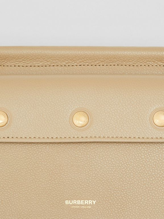 Mini Leather Title Bag with Pocket Detail in Honey - Women | Burberry - cell image 1
