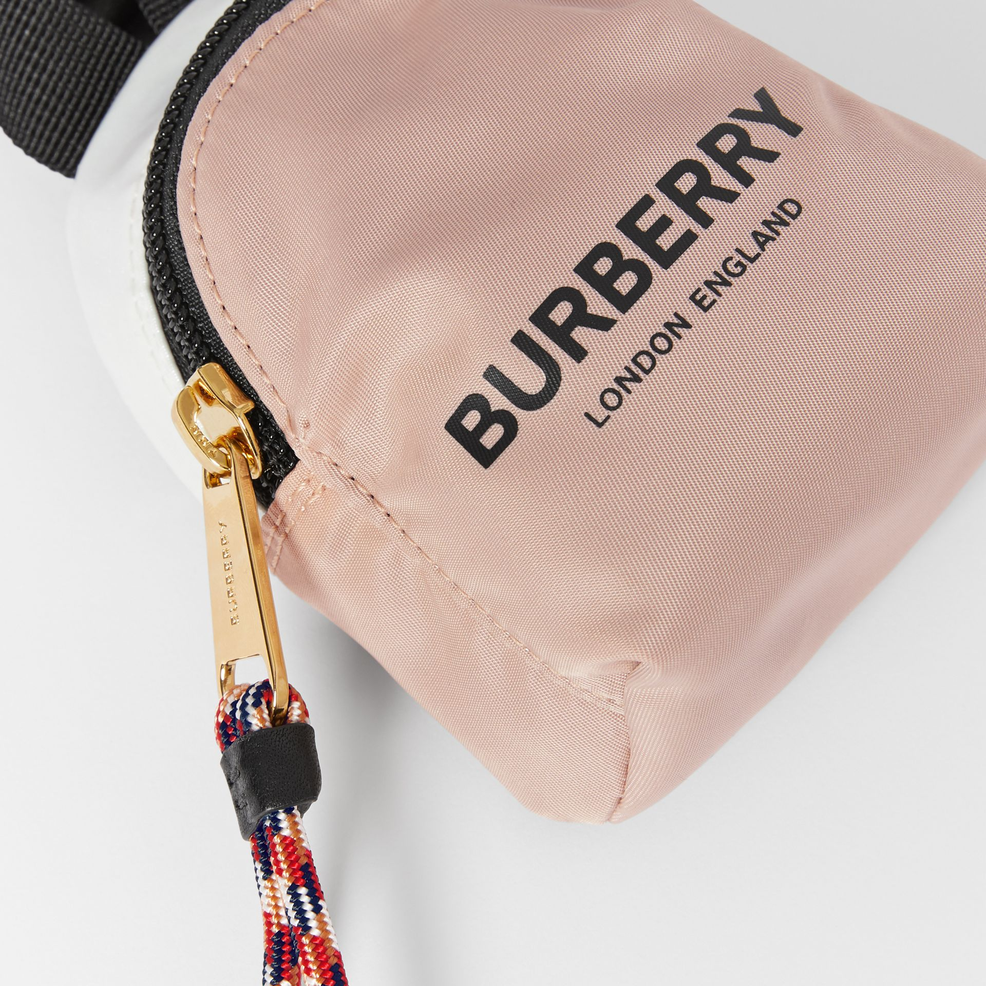 Logo Print Two-Tone Coin Case in Pearl - Children | Burberry - gallery image 1