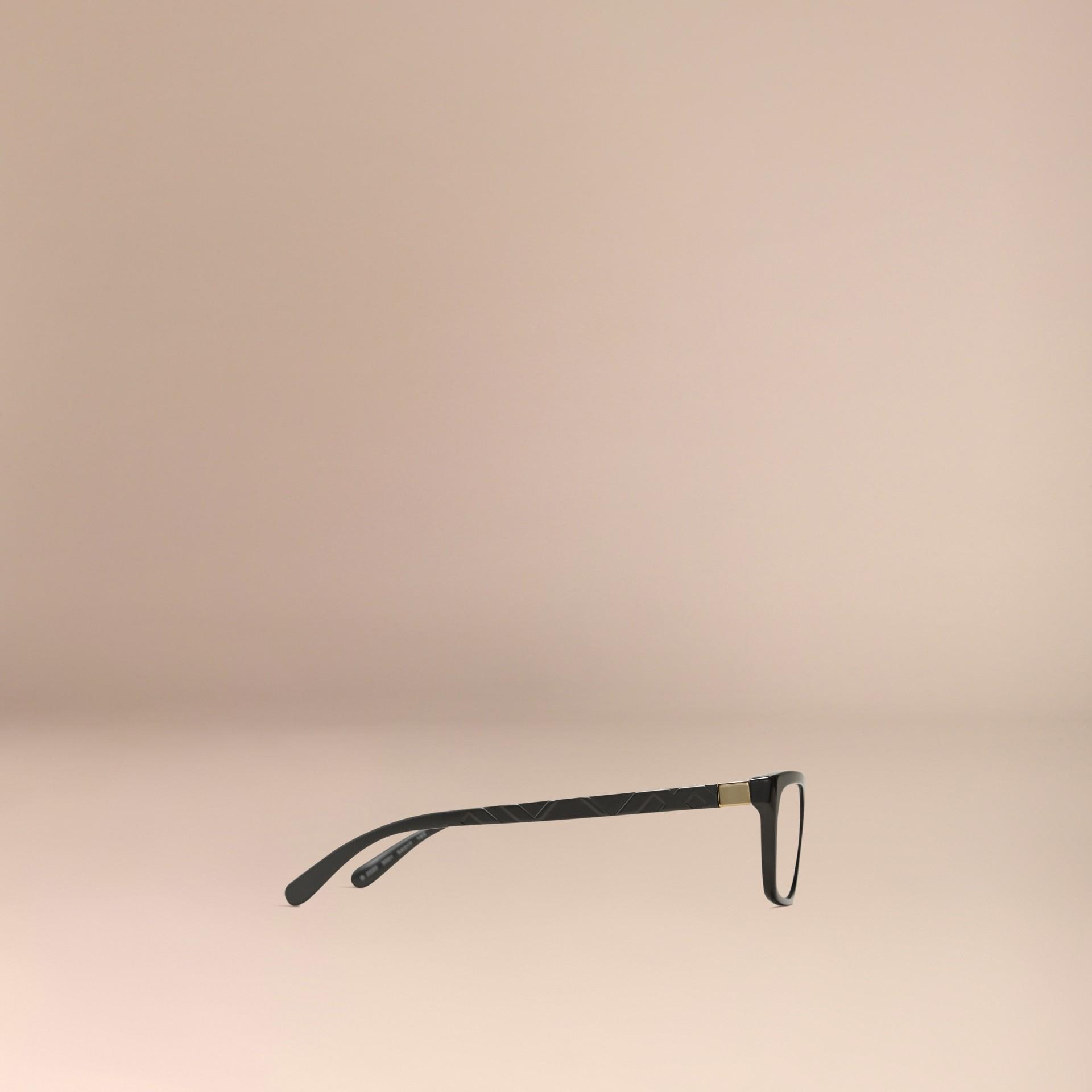 Noir Monture rectangulaire pour lunettes de vue avec détails check Noir - photo de la galerie 5