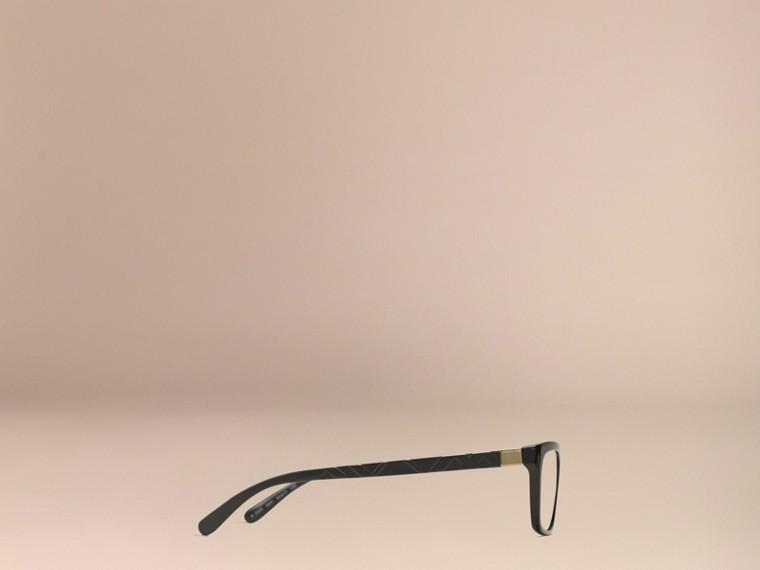 Noir Monture rectangulaire pour lunettes de vue avec détails check Noir - cell image 4