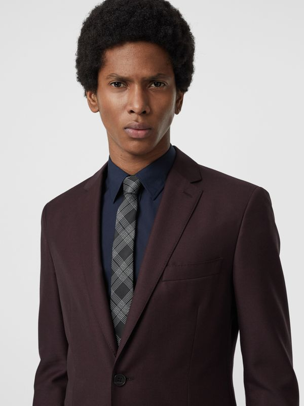 Modern Cut Check Silk Jacquard Tie in Black - Men | Burberry - cell image 2