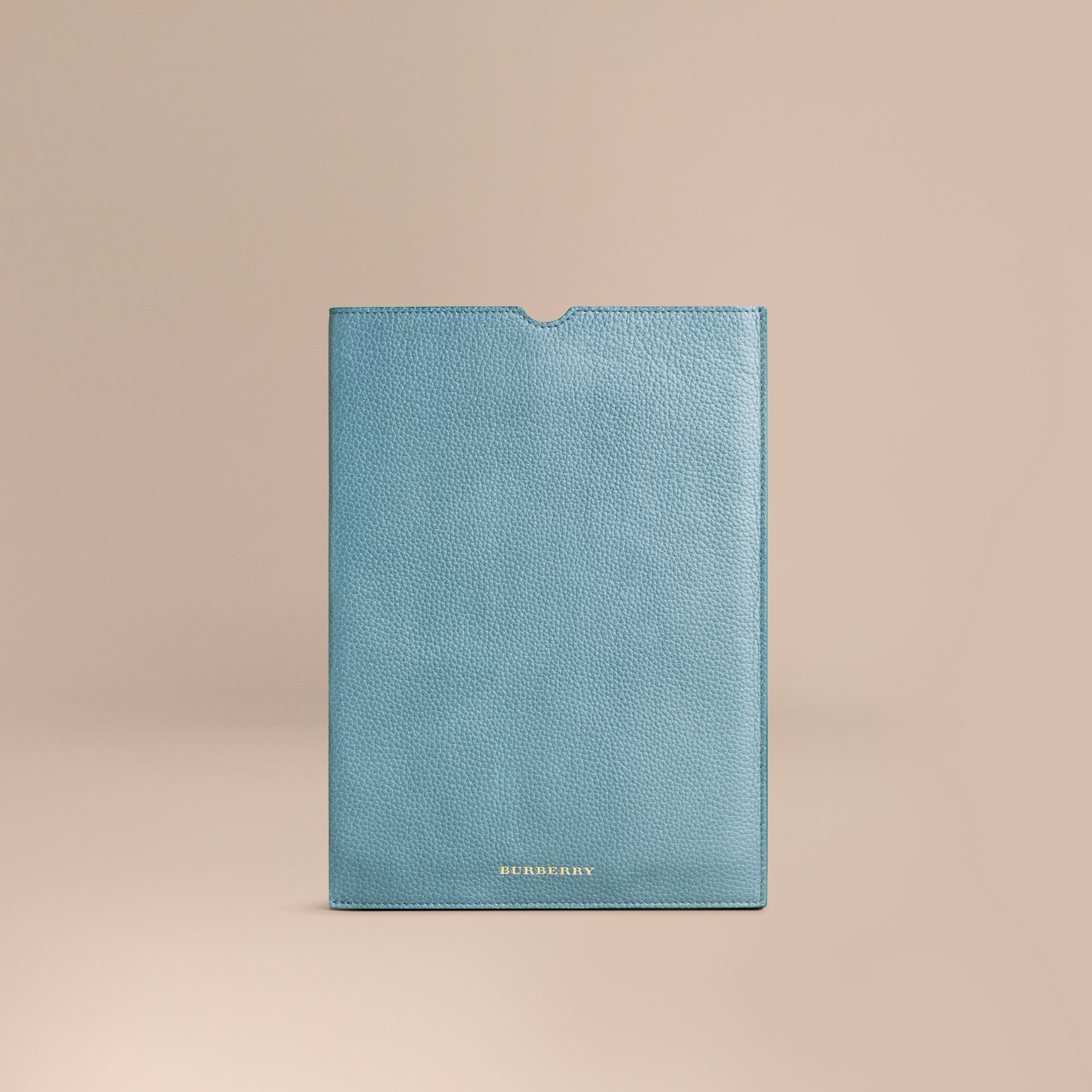 Dusty teal Grainy Leather iPad Case Dusty Teal - gallery image 1