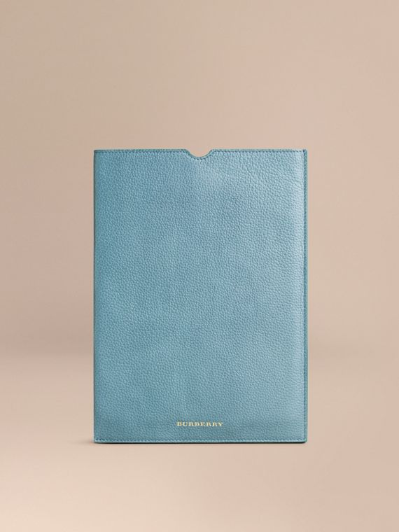 Grainy Leather iPad Case Dusty Teal