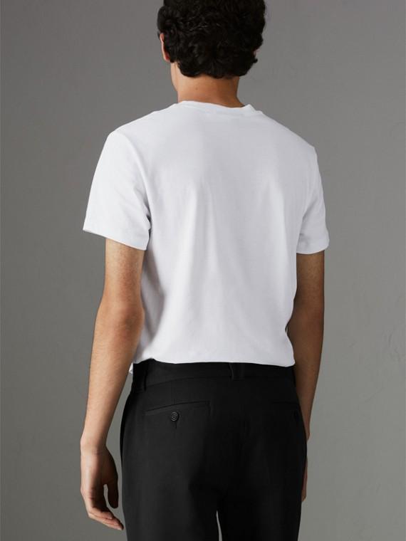 Camiseta de algodão com logo do acervo (Branco) - Homens | Burberry - cell image 2