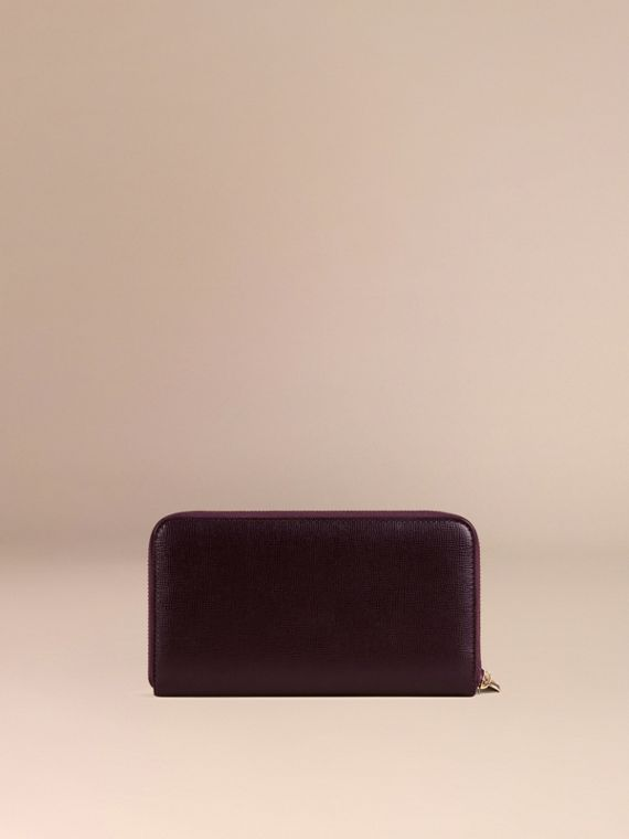 Wine London Leather Ziparound Wallet Wine - cell image 3