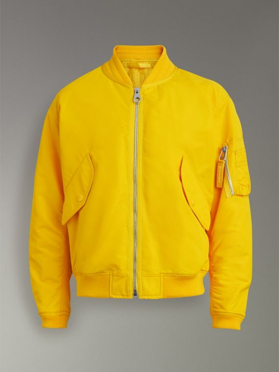 Nylon Bomber Jacket in Bright Yellow - Men | Burberry United States - cell image 3