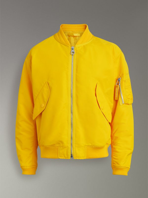 Nylon Bomber Jacket in Bright Yellow - Men | Burberry United Kingdom - cell image 3