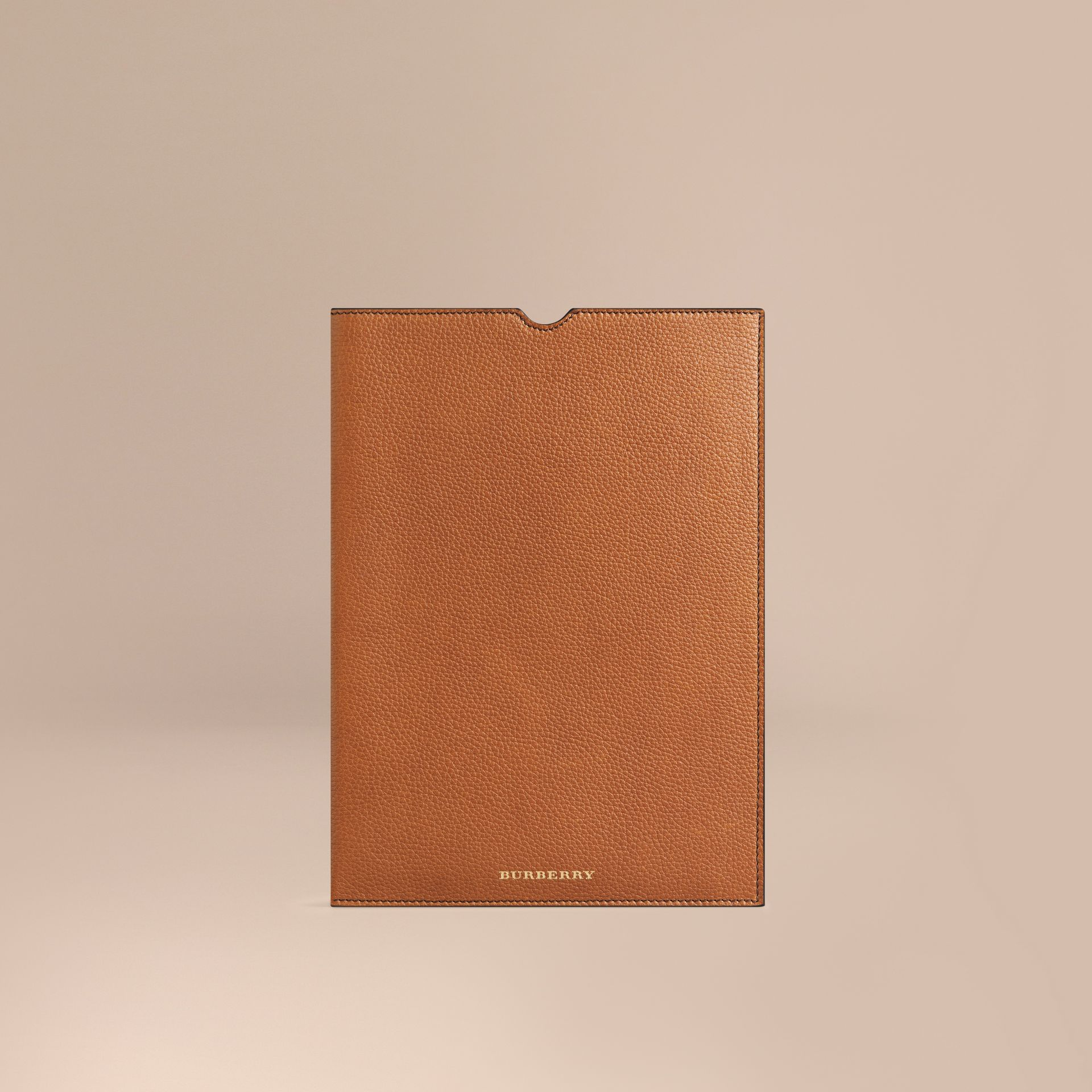 Tan Grainy Leather iPad Case Tan - gallery image 1