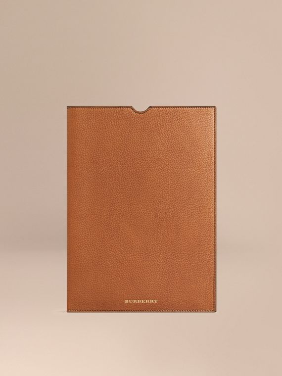 Grainy Leather iPad Case Tan