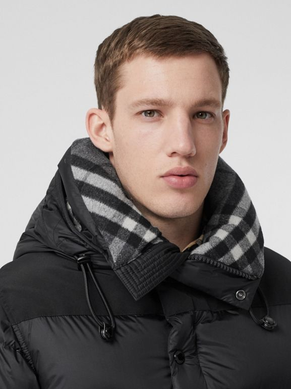 Detachable Sleeve Hooded Puffer Jacket in Black - Men | Burberry Singapore - cell image 1