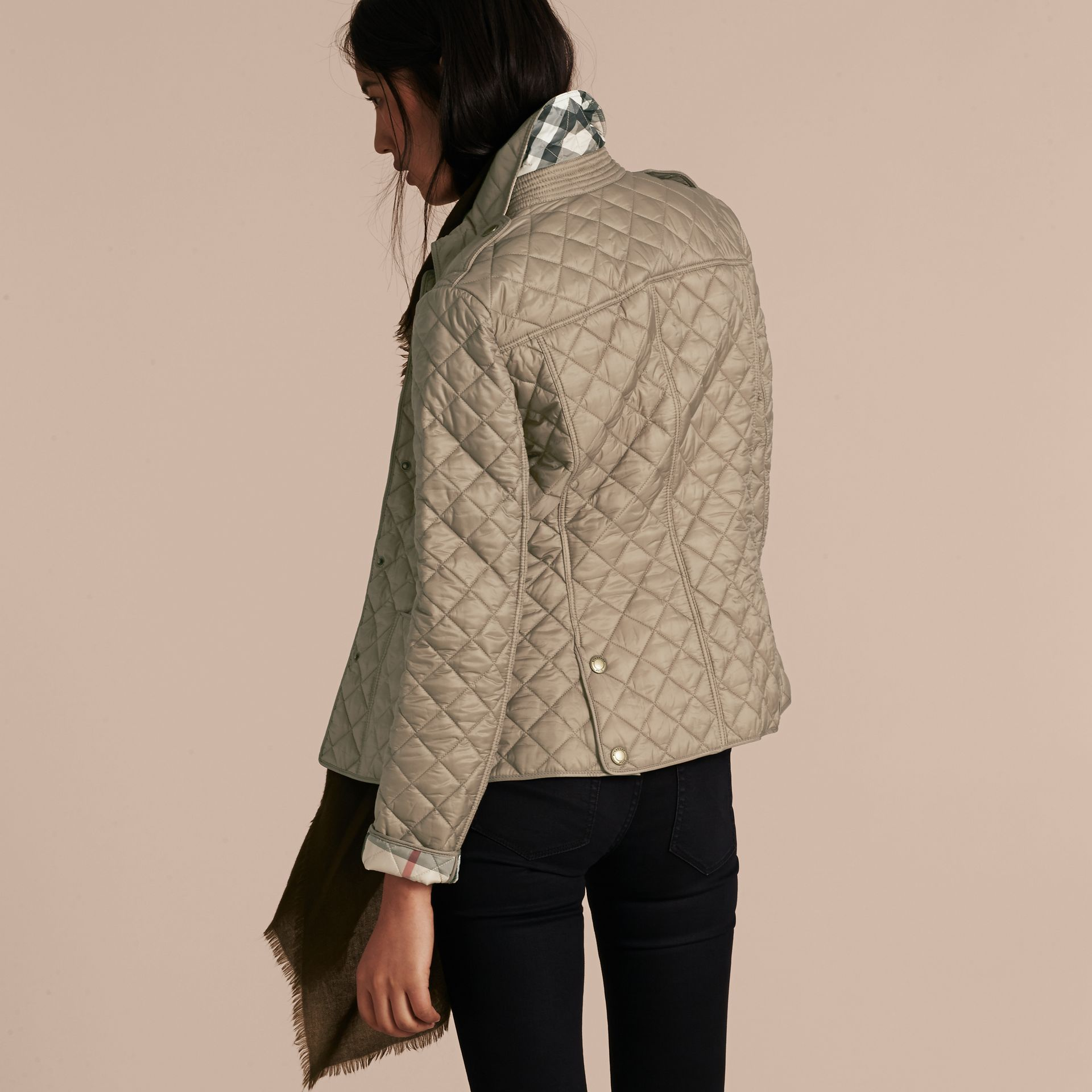 Pale fawn Diamond Quilted Jacket Pale Fawn - gallery image 3