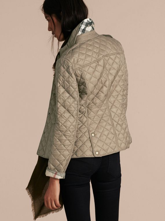 Pale fawn Diamond Quilted Jacket Pale Fawn - cell image 2