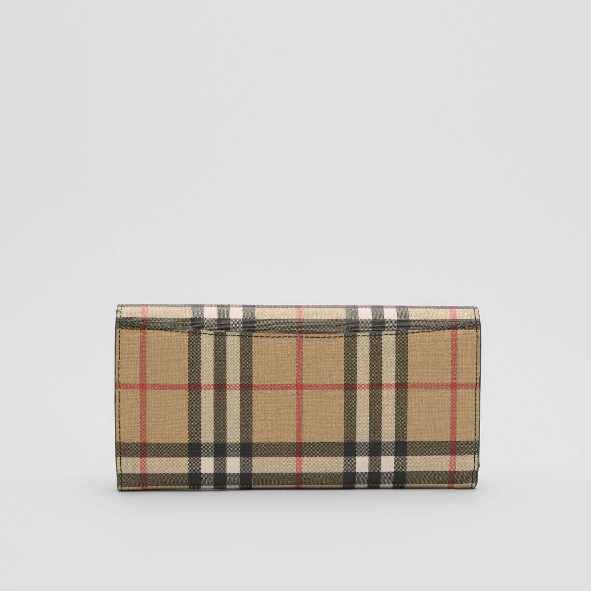 Vintage Check E-canvas Continental Wallet in Black - Women | Burberry Australia - gallery image 4