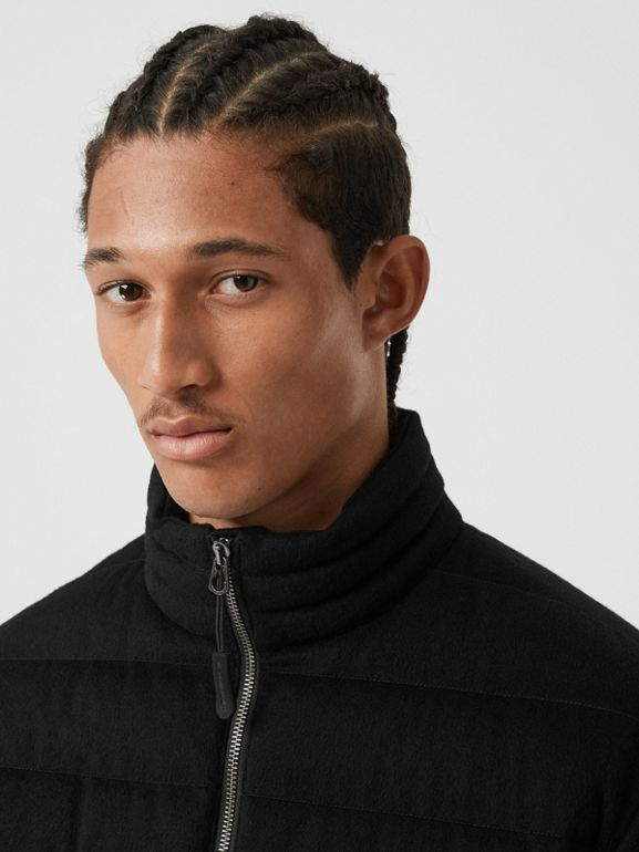 Lightweight Cashmere Puffer Jacket in Black - Men | Burberry United Kingdom - cell image 1