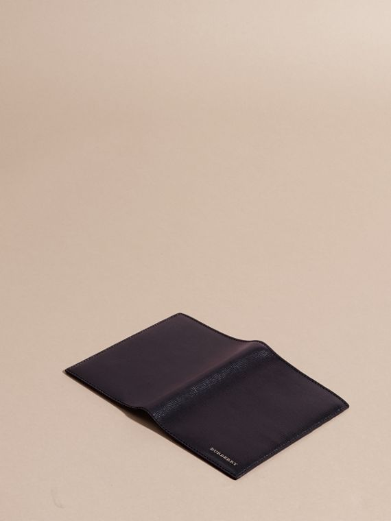 London Leather Passport and Card Holder in Dark Navy - Men | Burberry - cell image 2