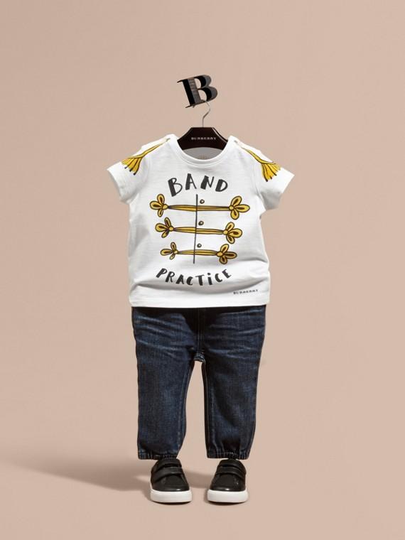 "Camiseta en algodón con motivo ""Band Practice"""