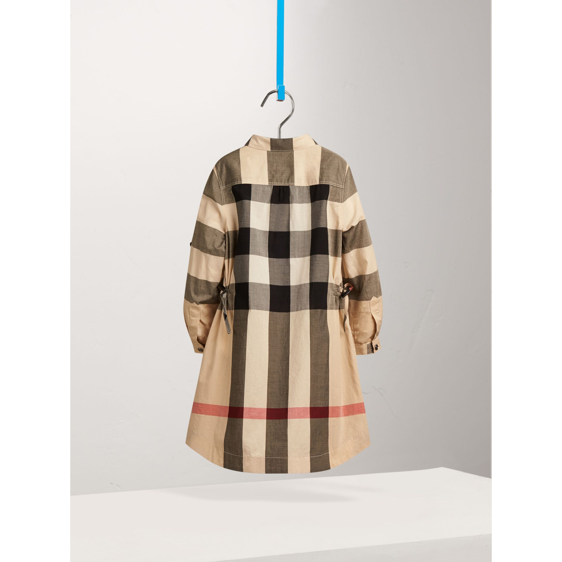 Check Cotton Shirt Dress in New Classic - Girl | Burberry United States - gallery image 2