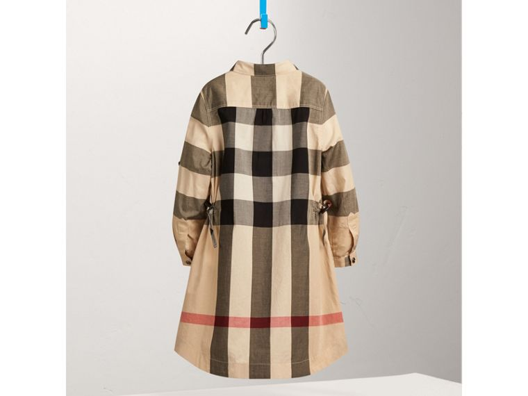 Check Cotton Shirt Dress in New Classic - Girl | Burberry - cell image 1