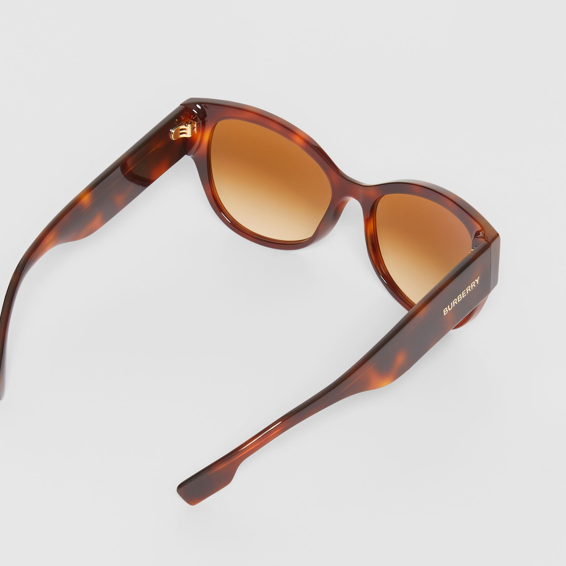 Butterfly Frame Sunglasses in Tortoise Amber - Women | Burberry - gallery image 4