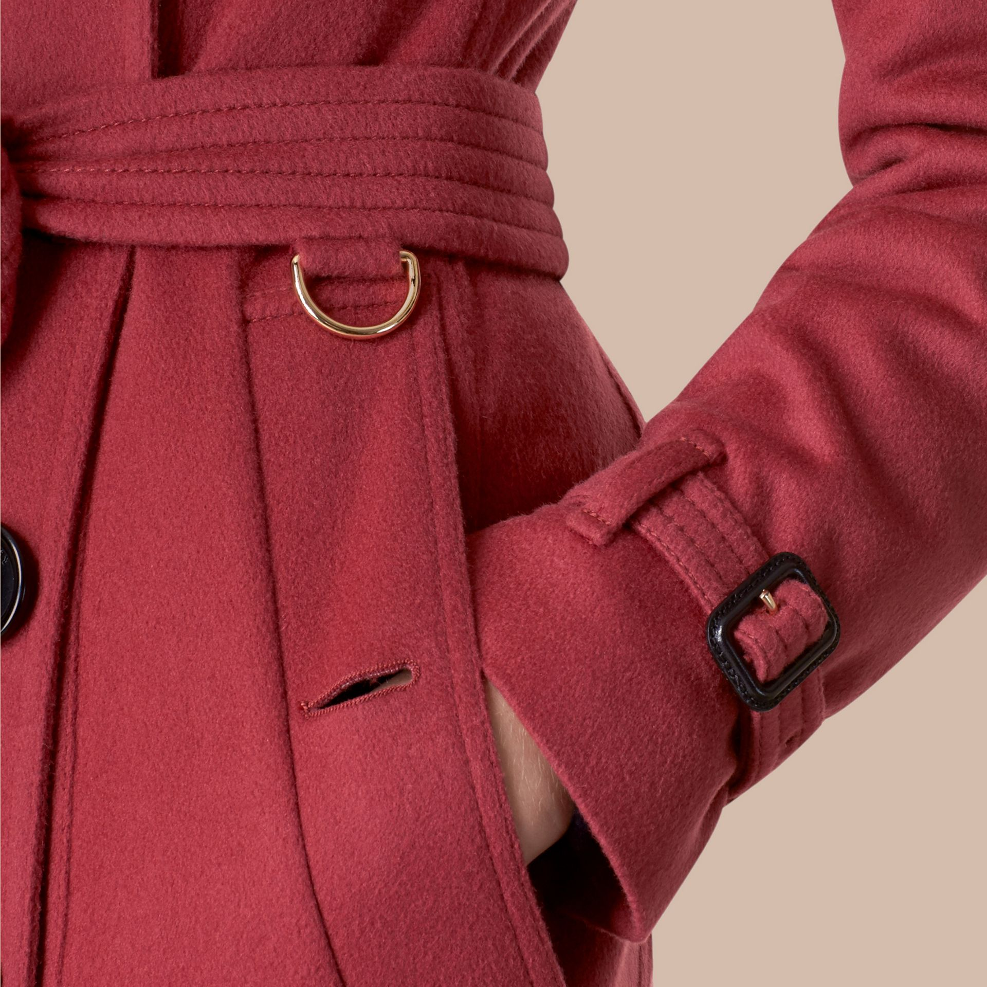 Dusty peony rose Sandringham Fit Cashmere Trench Coat Dusty Peony Rose - gallery image 5