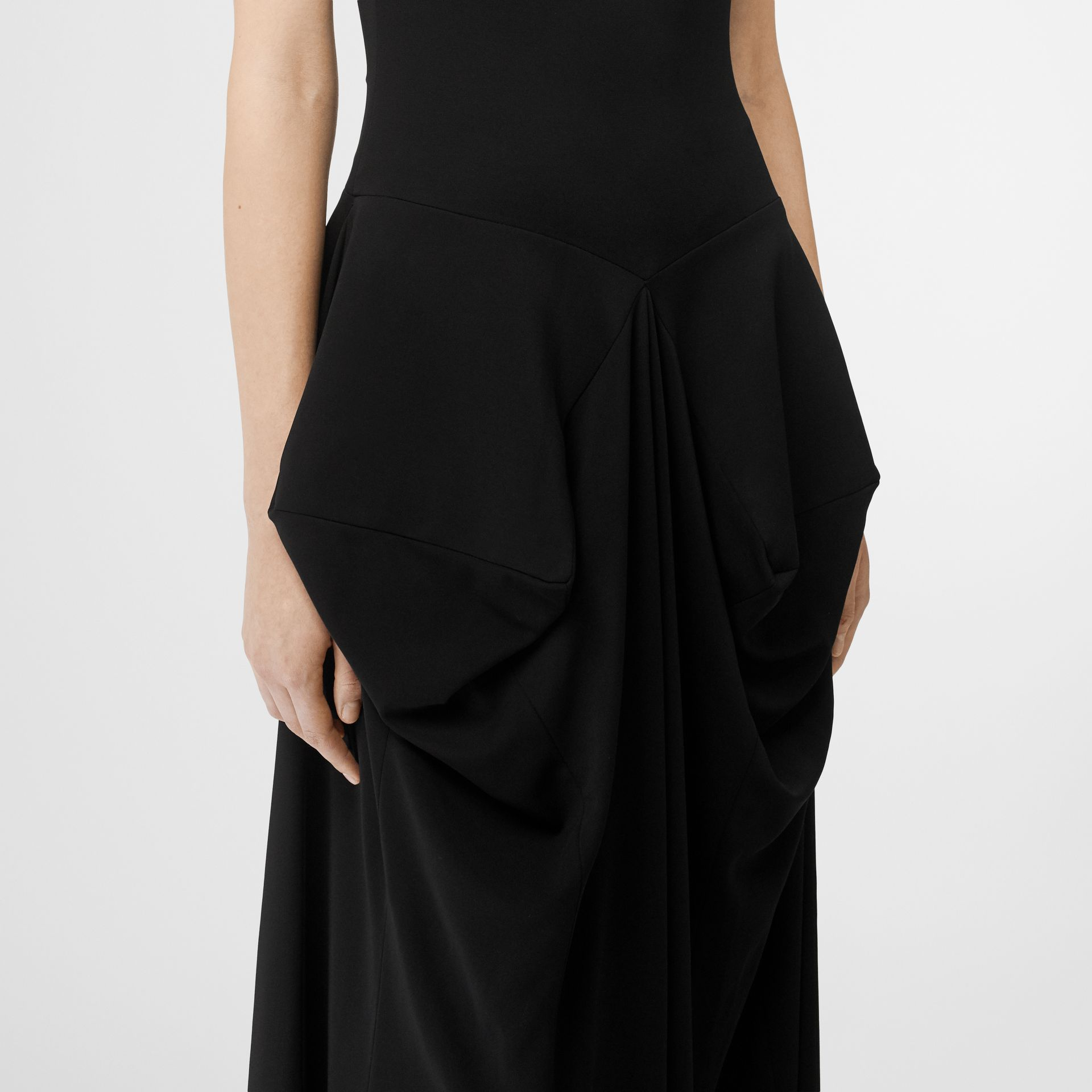 Crystal Detail Stretch Jersey Gown in Black - Women | Burberry - gallery image 7