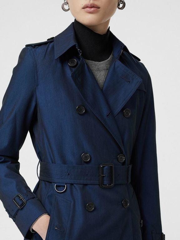 Kensington Fit Tropical Gabardine Trench Coat in Bright Regency Blue - Women | Burberry United Kingdom - cell image 1