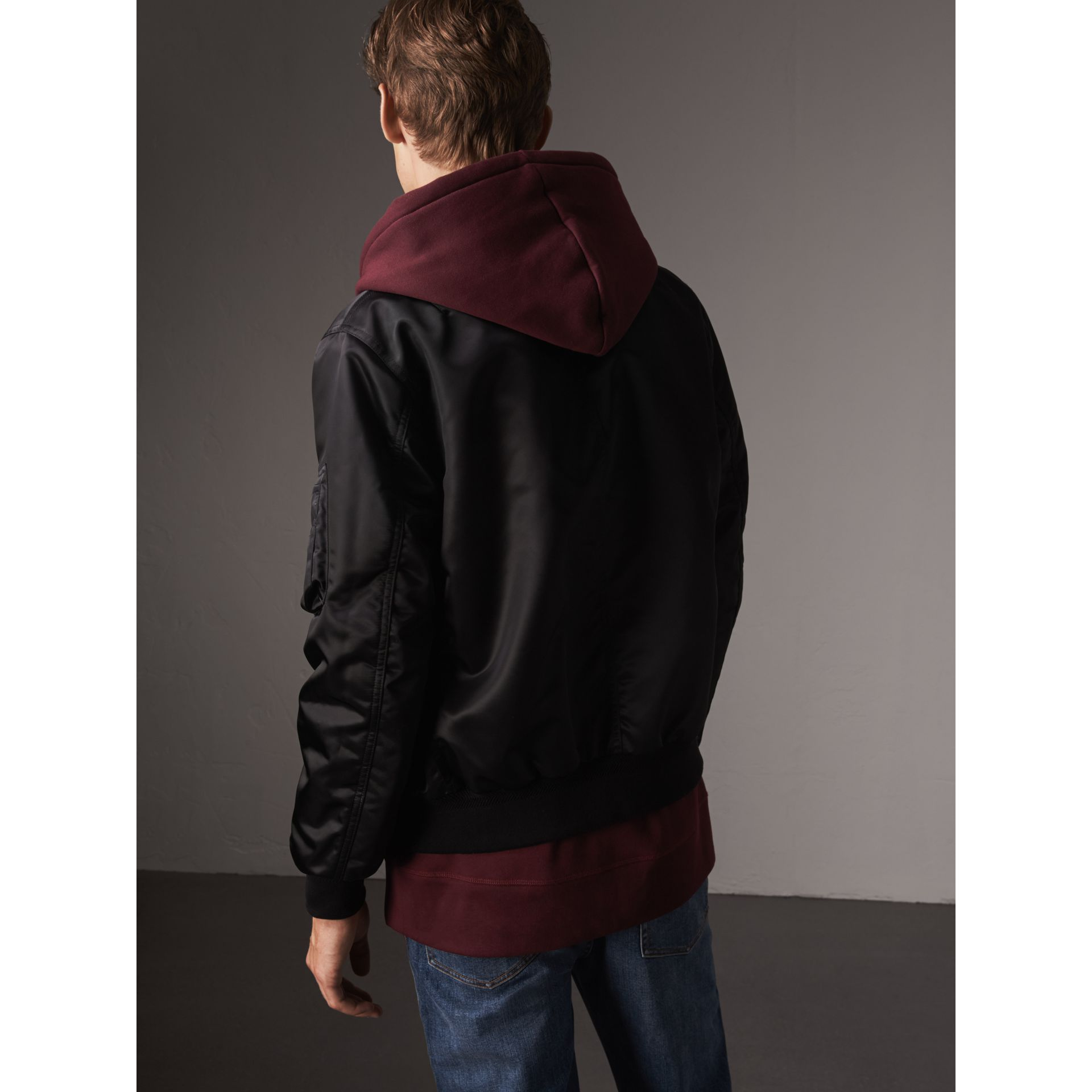 Point Collar Bomber Jacket in Black - Men | Burberry United States - gallery image 2